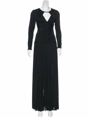 Herve Leger Embellished Amelie Gown Black