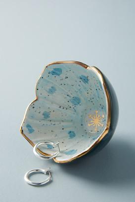 Anthropologie Gilded Garden Trinket Dish By in Blue Size XS