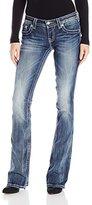 Miss Me Women's Embellished Back Pocket Boot Cut Jean