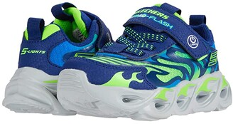 Skechers Sport Lighted - Thermo-Flash 400106L (Little Kid/Big Kid) (Navy/Lime) Boy's Shoes