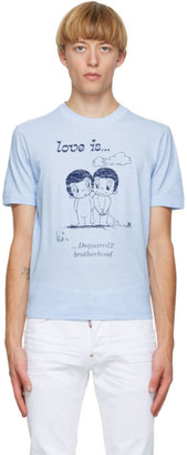 DSQUARED2 Blue Love Is... T-Shirt