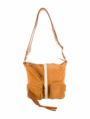 See by Chloe Patti Suede Crossbody Bag gold