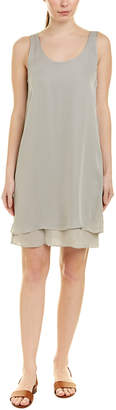 Heather H By Bordeaux Solid Silk Shift Dress