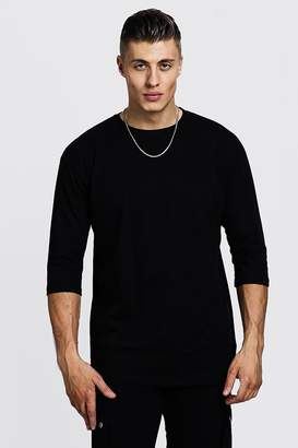boohoo 3/4 Sleeve Regular Fit T-Shirt