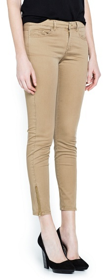 MANGO Outlet Slim-Fit Zipped Trousers