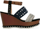 Steffen Schraut studded platform sandals - women - Leather/Suede/Foam Rubber/metal - 38