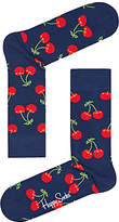 Happy Socks Cherry Socks, One Size, Navy