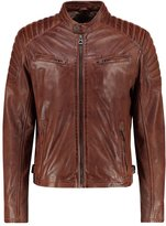 Gipsy Chester Leather Jacket Dark Cognac