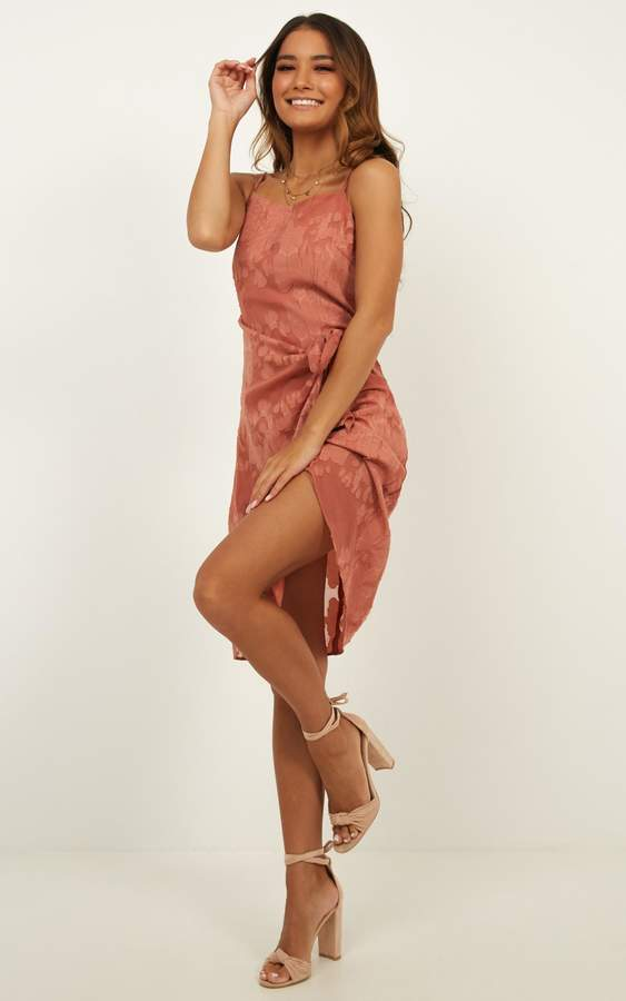 Showpo Heat Of The Moment Dress In dusty rose - 6 (XS) Dresses