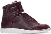 Maison Margiela Burgundy & Silver Future High-Top Sneakers