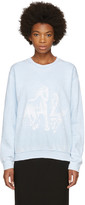 Baja East Blue Horses Sweatshirt