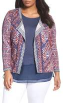 Nic+Zoe Picasso Linen Blend Cardigan (Plus Size)