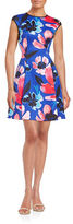 Vince Camuto Floral Fit-and-Flare Dress