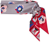Fendi Printed Silk Scarf - Gray