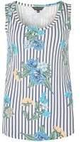 Dorothy Perkins Womens Ivory Floral Print Vest