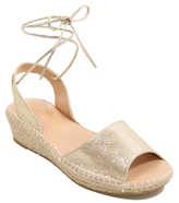George Open Toe Ghillie Tie Wedge Sandals