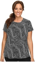 Nike Dry Miler Printed Short-Sleeve Running Top (Size 1X-3X)