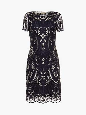 Phase Eight Lizzy Lace Dress, Navy/Ivory