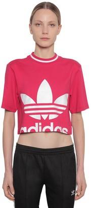 adidas Cropped Cotton Jersey T-shirt