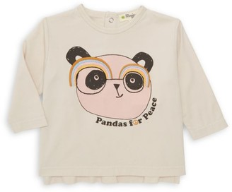 The Bonnie Mob Baby Girl's Pandas For Peace T-Shirt
