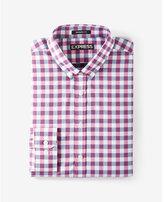 Express modern fit check performance dress shirt