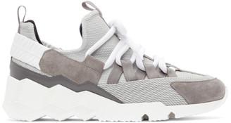 Pierre Hardy Grey Suede Trek Comet Low-Top Sneakers