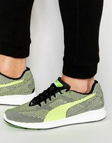 Puma Ignite Interwoven Sneakers In Green 361133 04
