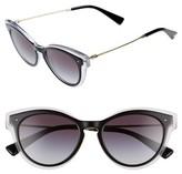 Valentino Garavani Women's Valentino 51Mm Sunglasses - Black/ Crystal