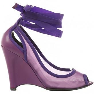 Fendi Purple Cloth Heels