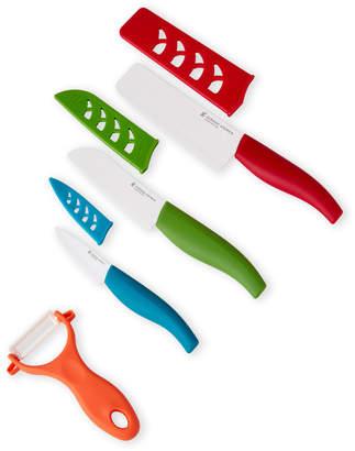 Gibson Home 7-Piece Mullins Ceramic Blade Cutlery Set