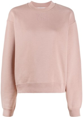 T By Alexander Wang Embossed Logo Jumper