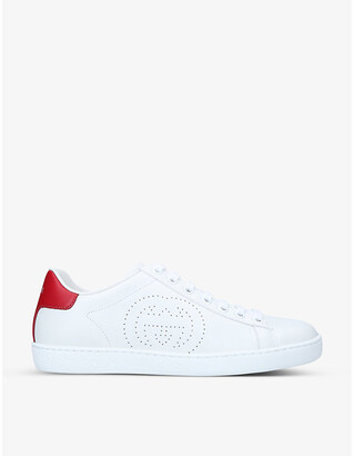 Gucci New Ace perforated leather trainers