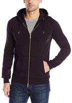J. Lindeberg Men's Rand Compact Textured Full Zip Hoodie Sweatshirt