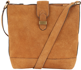 Warehouse Suede Slouchy Bucket Bag, Tan