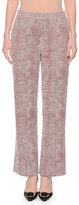 Giorgio Armani Fantasy Straight-Leg Ankle Pants, Ash Rose/Winter Sky