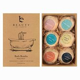 IDEA Bath Bomb Gift Set - USA Made with Organic & Natural Ingredients - Surprise Your Mom, Wife or Girlfriend with 6 Large Relaxing Epsom Salt Soak Balls in a Fizzy Pack Assortment with Lush Essential Oils