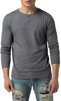 Hilfiger Denim Basic Henley Knit, Grisaille