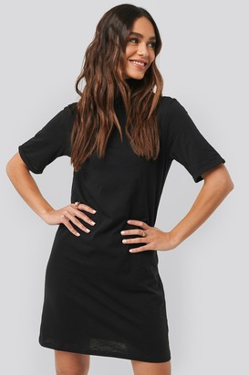 NA-KD Polo Neck T-shirt Dress