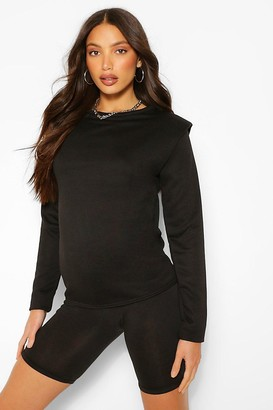boohoo Tall Long Sleeve Shoulder Pad jumper