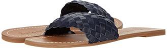 Splendid Maegan (Navy Tumbled Leather/Cow Suede) Women's Shoes