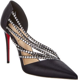 Christian Louboutin Antinorina Strass 100 Satin Pump