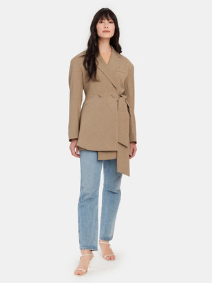 Studio D'Aari Wool Blend Asymmetric Jacket