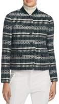 Tory Burch Womens Norfolk Tweed Sequin Jacket