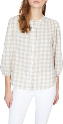 Sanctuary Evelyn Gingham Cotton Blouse