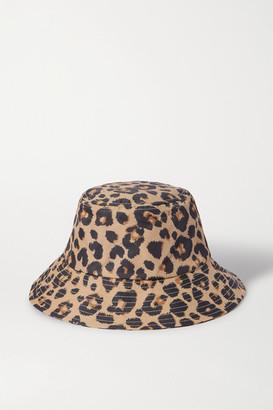 Loeffler Randall Leopard-print Shell Bucket Hat - Leopard print