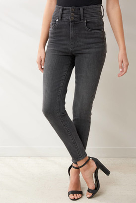 Blank NYC Super Hi Rise Button Front Jean in Warrior Princess Charcoal 25