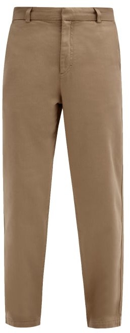 Thumbnail for your product : Another Aspect - Garment-dyed Cotton-twill Chino Trousers - Brown