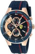 Ferrari 830297 'RED REV EVO CHRONO' Quartz Gold and Silicone Watch