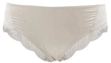 Thumbnail for your product : Hanro Irini Lace And Satin-jersey Briefs - Ivory