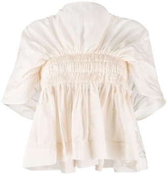 Molly Goddard Pleated Flared Blouse